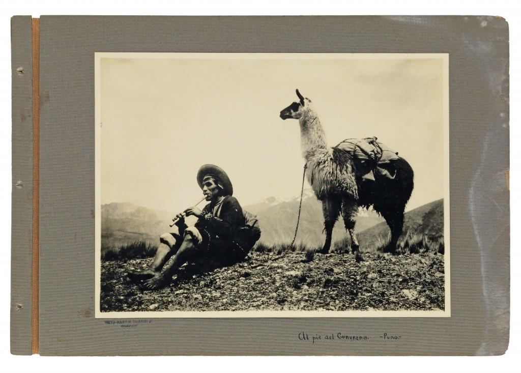 Lot 101: Martin Chambi, contemporary binder with 50 medium-format photographs of Peru, 1920s. Sold for $50,000.