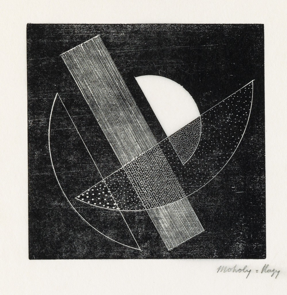 Lot 178: László Moholy-Nagy, Composition (for Het Overzicht), linocut proof, circa 1924. Sold December 1, 2016 for $17,500, a record for the work.
