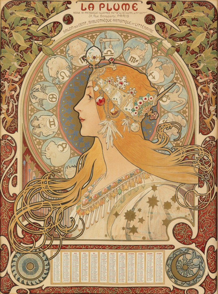 Lot 118: [Zodiac] / La Plume, 1896. Estimate $15,000 to $20,000.