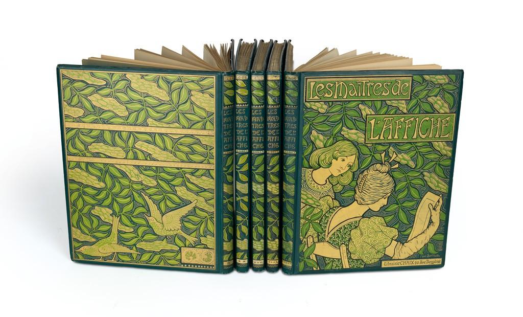 Lot 16: Les Maîtres de l'Affiche, complete set of 5 volumes, Paris, 1896-1900. Sold January 26, 2017 for $47,500.
