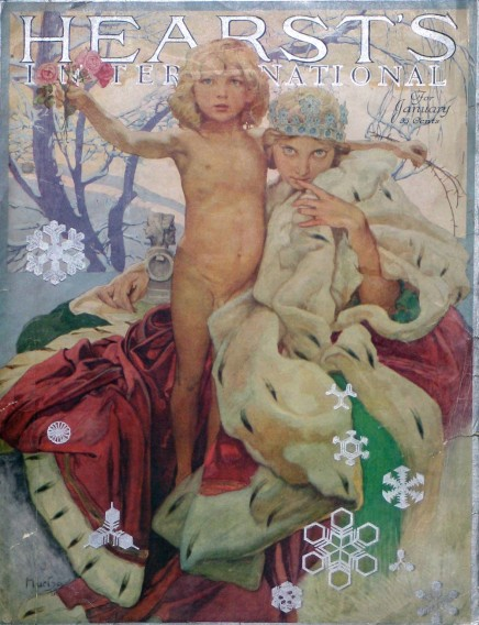 Cover for Hearst International Magazine, January 1922. Courtesy Mucha Foundation.