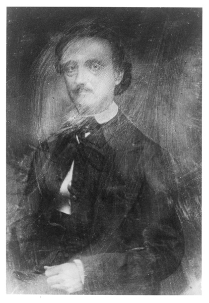 """An image of the ruined """"Traylor"""" daguerreotype, courtesy of The Edgar Allan Poe Museum of the Poe Foundation, Richmond, Virginia"""