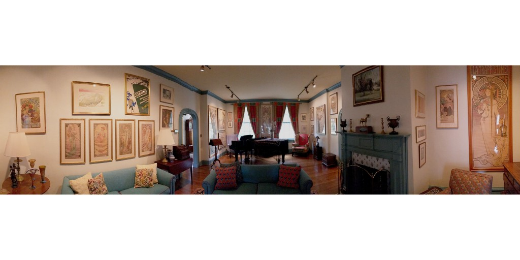 The Living room of Harry C. Meyerhoff, showing Lygie and