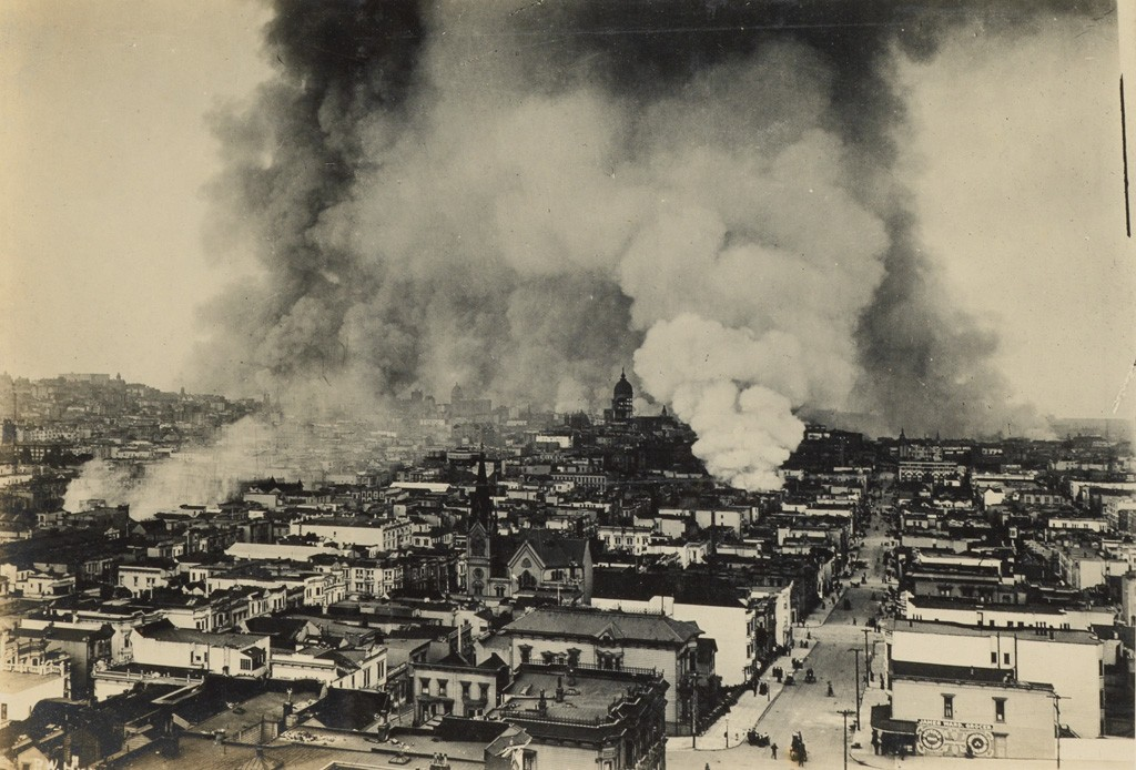 Lot 268: Album with approximately 265 photographs of San Francisco in the aftermath of the 1906 earthquake, silver prints, 1906. Sold February 14, 2017 for $13,750.