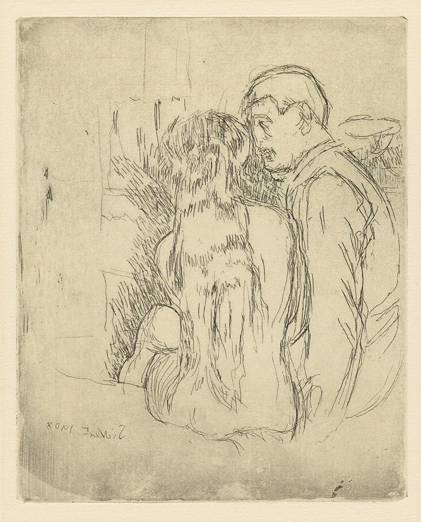 Lot 37: Walter Sickert, The Camden Town Murder (The Small Plate), etching and aquatint, 1908. Estimate $1,000 to $1,500.