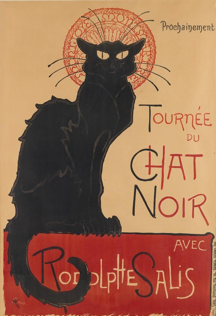 Lot 293: Théophile-Alexandre Steinlen, Tournée du Chat Noir 1896. Sold March 16, 2017 for $30,000, a record for the work.