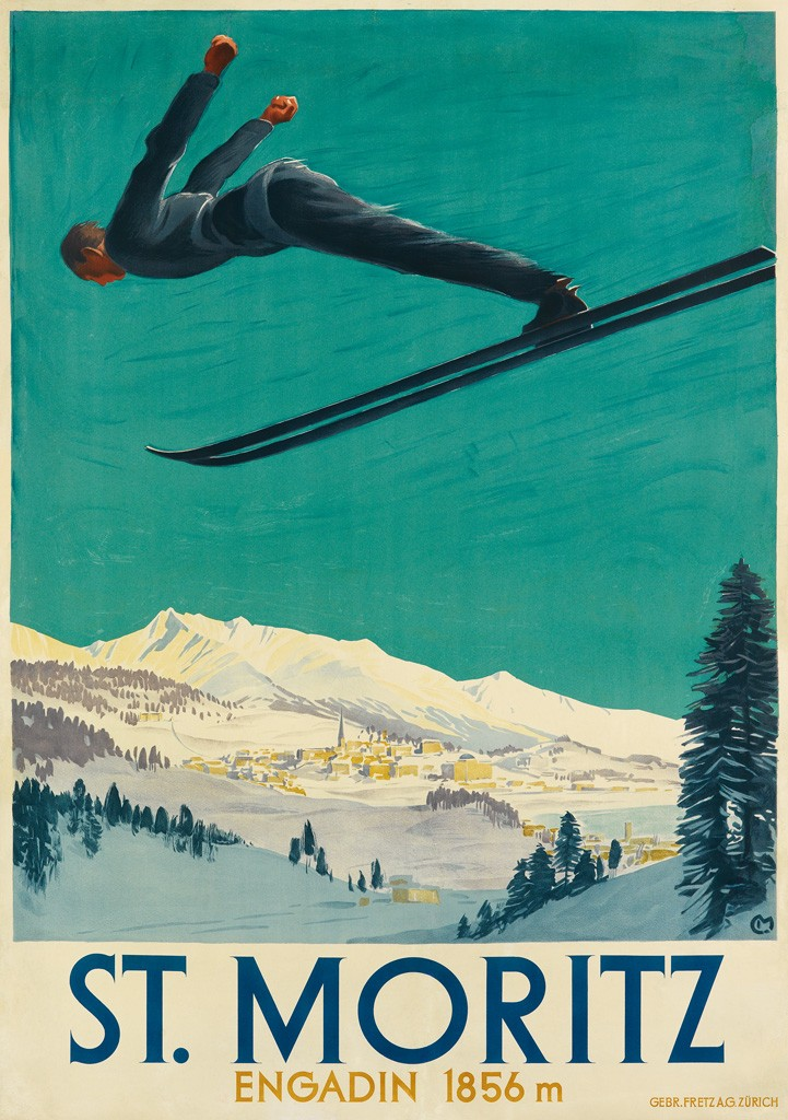 Lot 39: Carl Moos, St. Moritz, 1924. Estimate $12,000 to $18,000.
