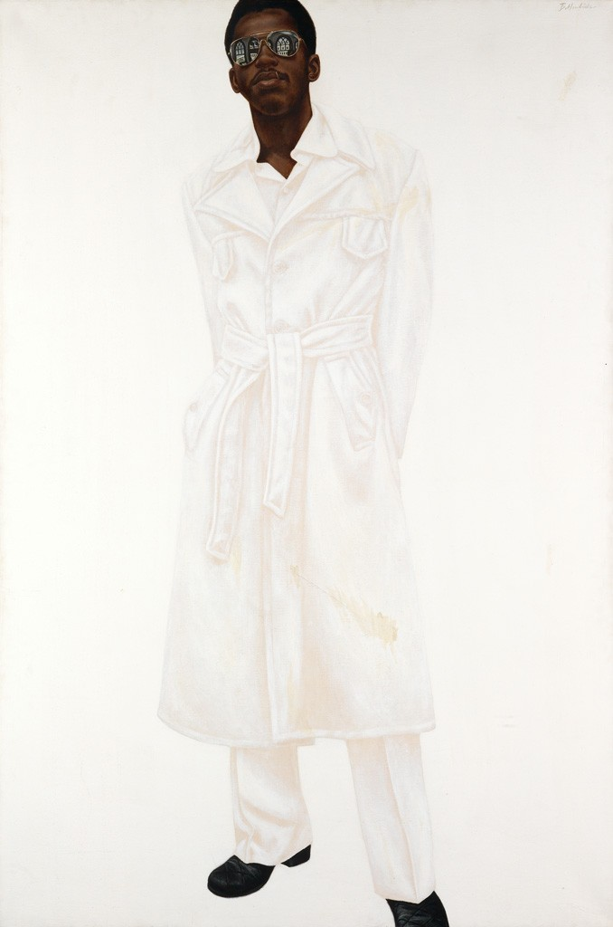 Barkley L. Hendricks, Steve, oil, acrylic and Magna on canvas, 1976. Sold April 2, 2015 for $365,000, a tied record.