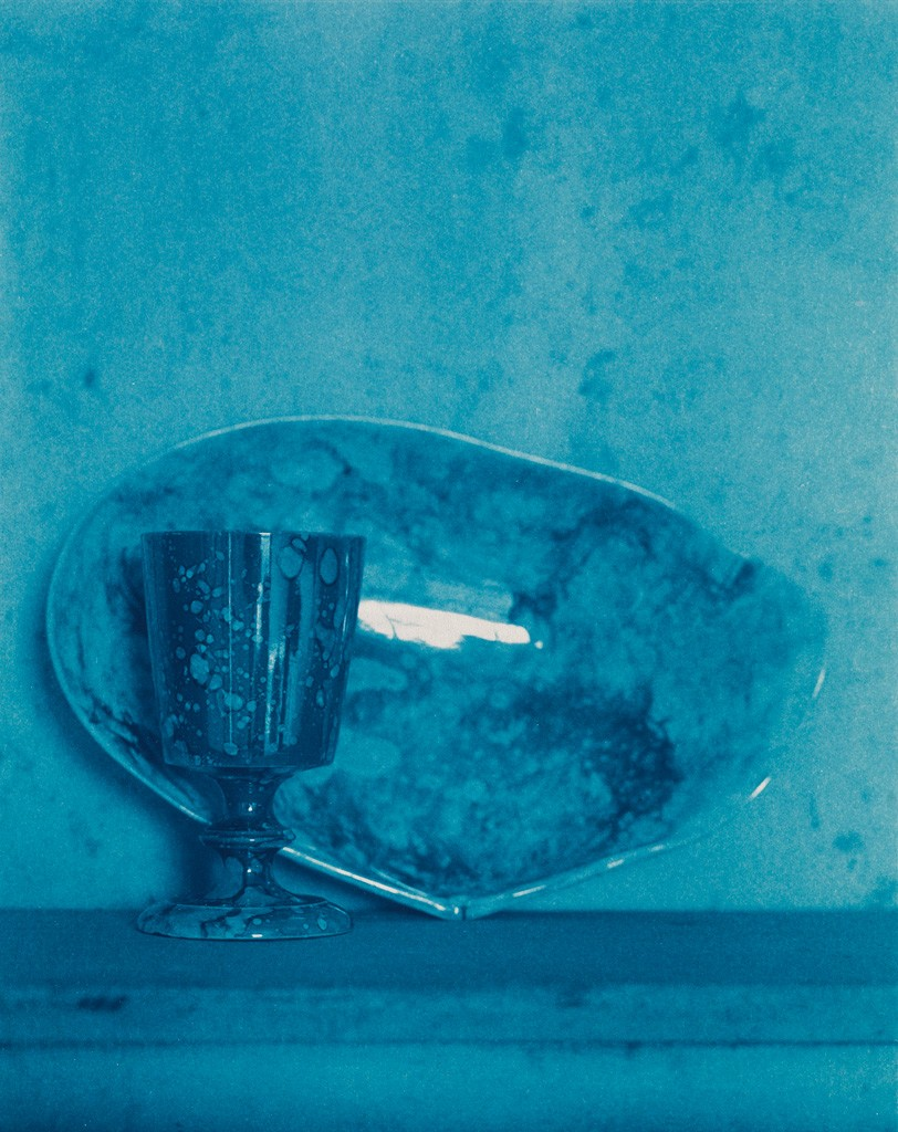 Lot 226: John Dugdale, Pink Spatter Ware, one of three cyanotypes, 1992-94. Estimate $3,000 to $4,000.