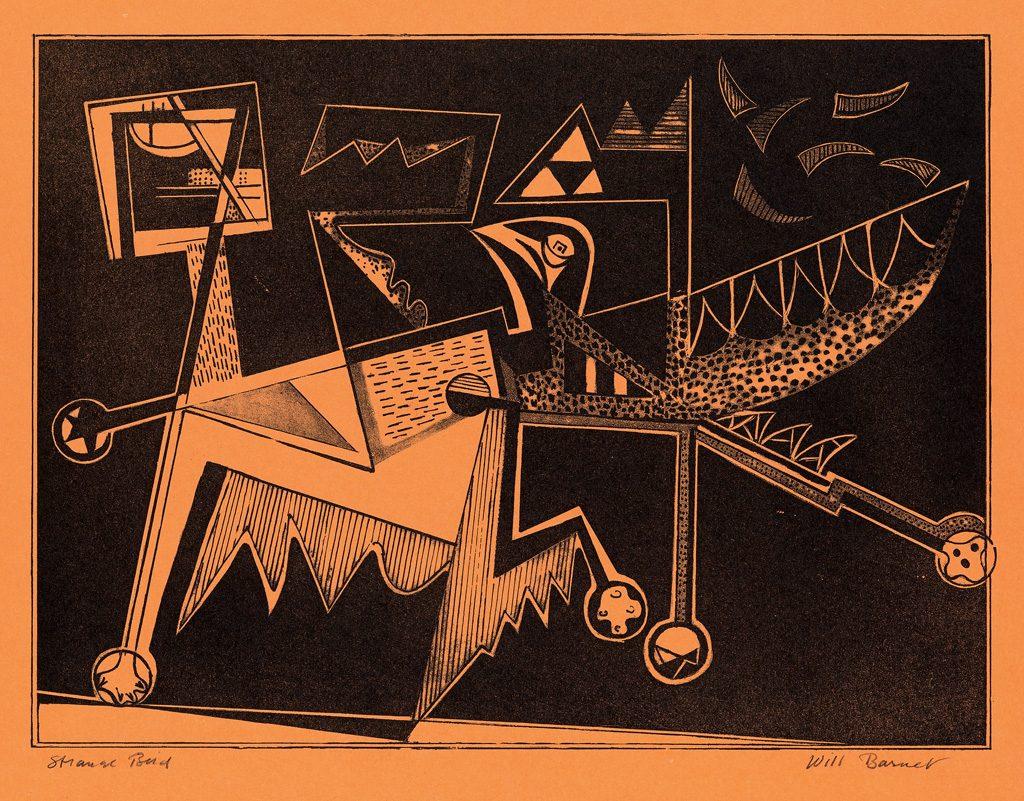 Lot 376 Will Barnet Strange Bird Lithograph 1947 Estimate 1 200 To 800
