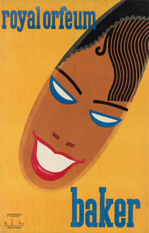 josephine baker, tibor réz-diamant, poster auction