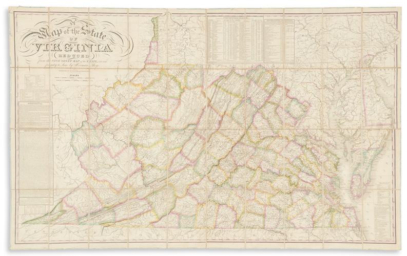 virginia, maps, auction