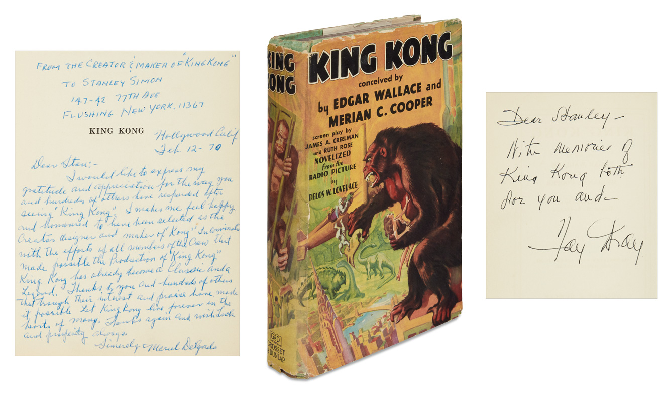 king kong, marcel delgado, fay wray, first edition