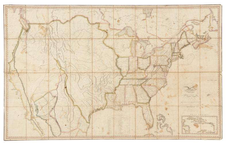 maps, auction, john melish