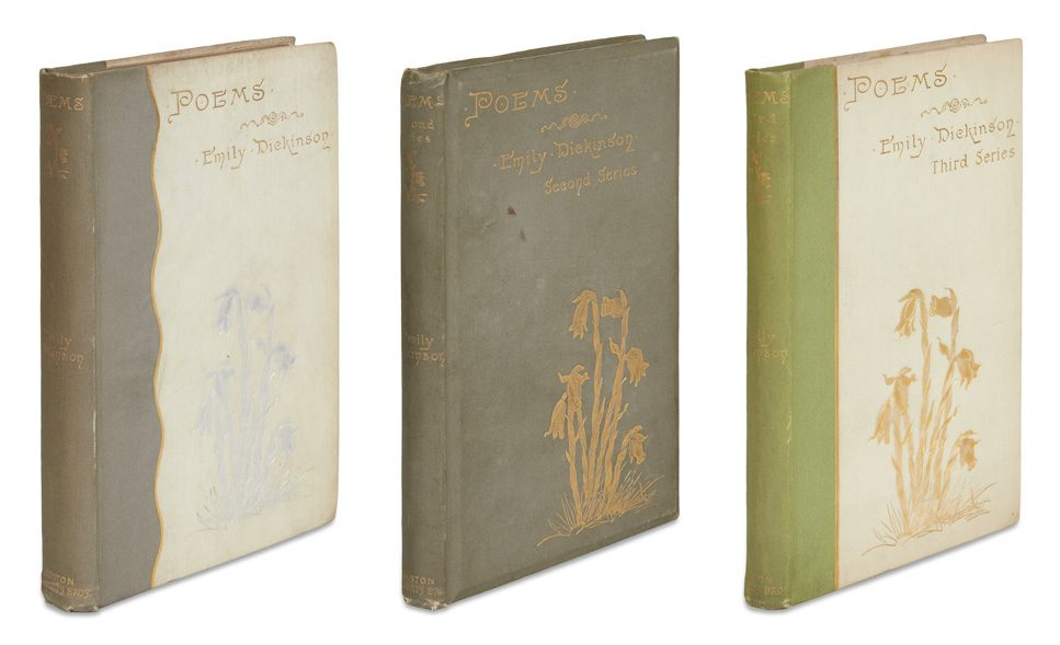emily dickinson, first editions, poems