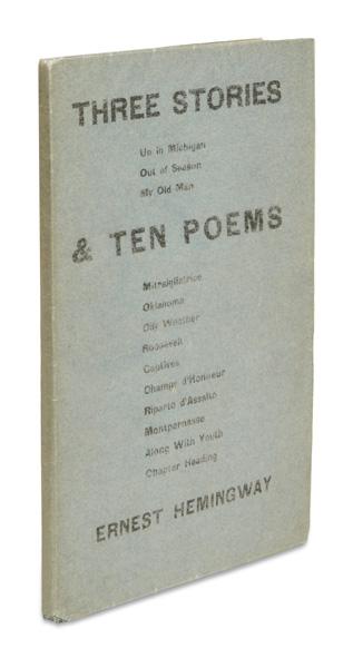ernest hemingway, first book