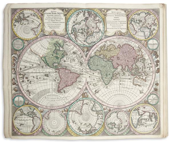 atlas, matthaus seutter, auction