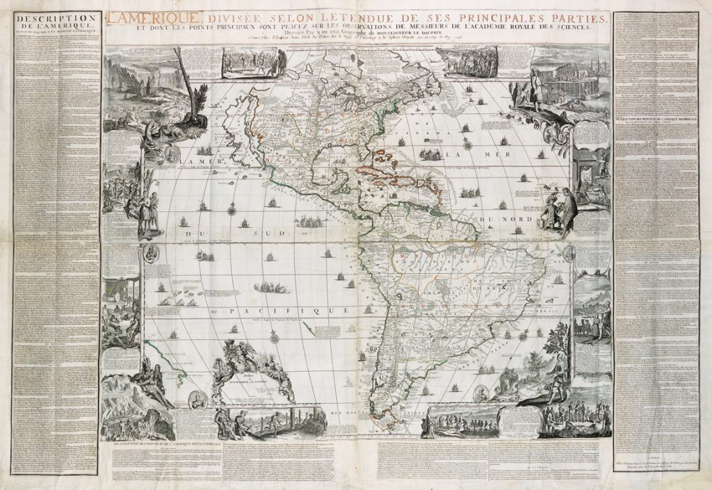 Nicolas de Fer, decorative wall map
