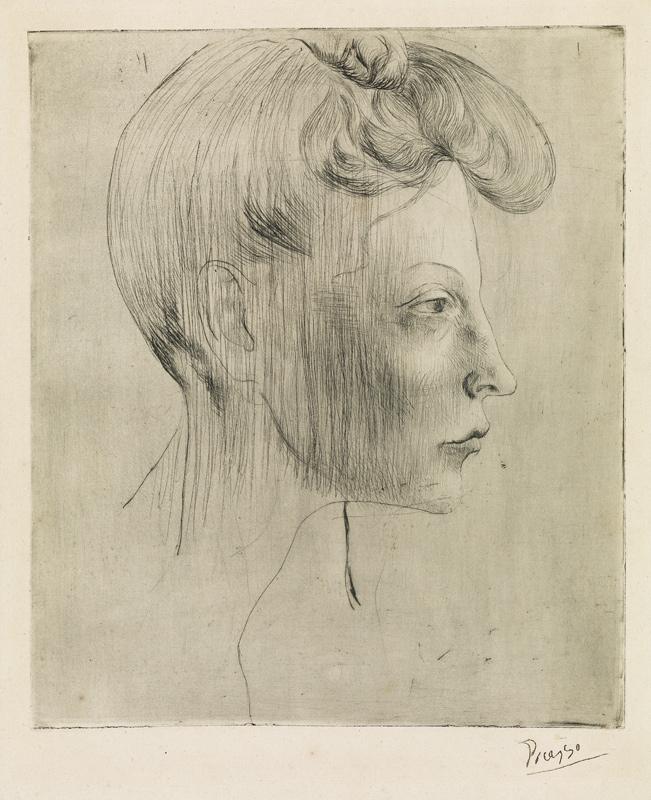 Pablo Picasso, Tête de femme, de profil