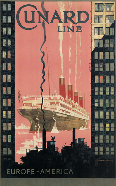 Kenneth D. Shoesmith, travel poster for Cunard.