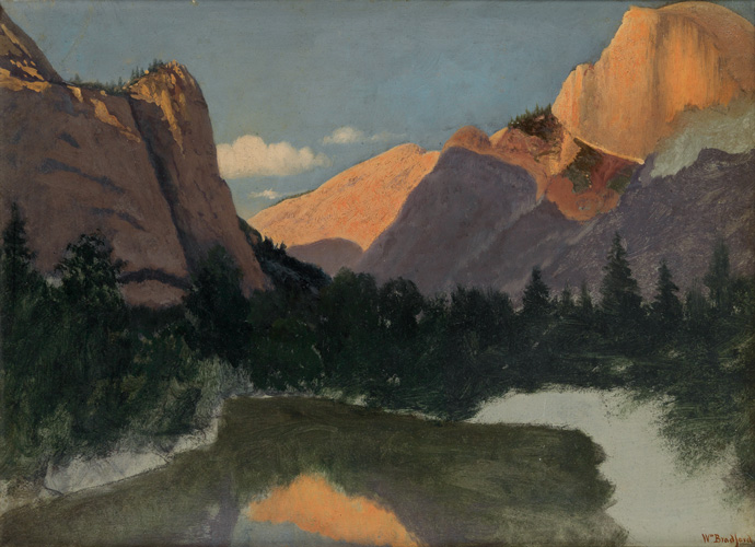 william bradford, yosemite, auction