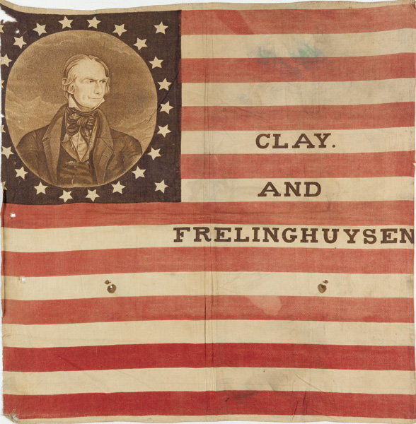 Clay and Frelinghuysen, flag banner, circa 1844.