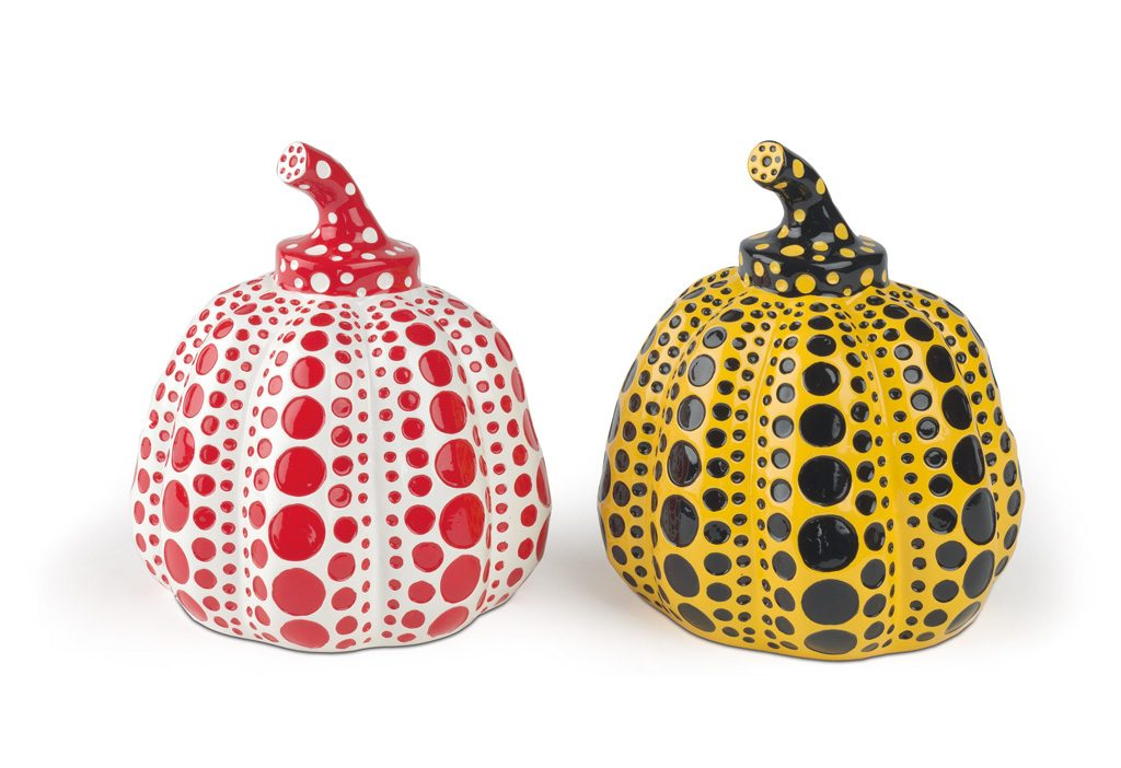 Yayoi Kusama, Two Pumpkins, cast resin multiples, 2013. Sold May 22, 2018 for $4,000.