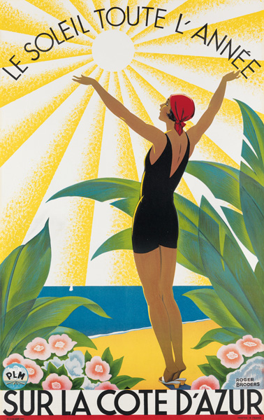travel poster by roger broders.