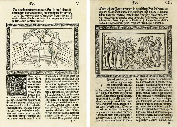 Giovanni Boccaccio, De las mujeres illustres en roma[n]ce, Zaragoza, 1494.