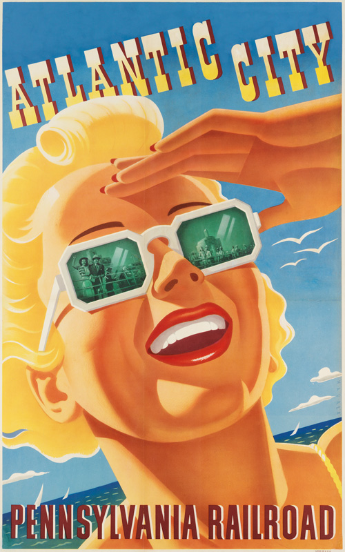 sascha maurer travel poster for pennsylvania railroad.