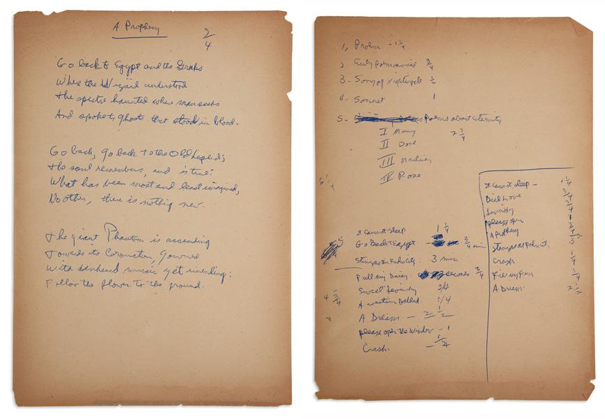 allen ginsberg manuscripts