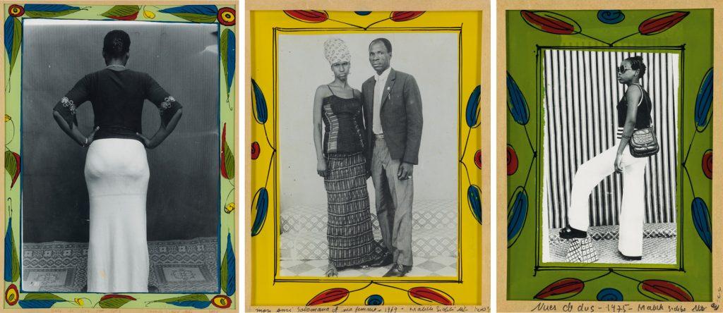 Suite of portraits by Malick Sidibé.