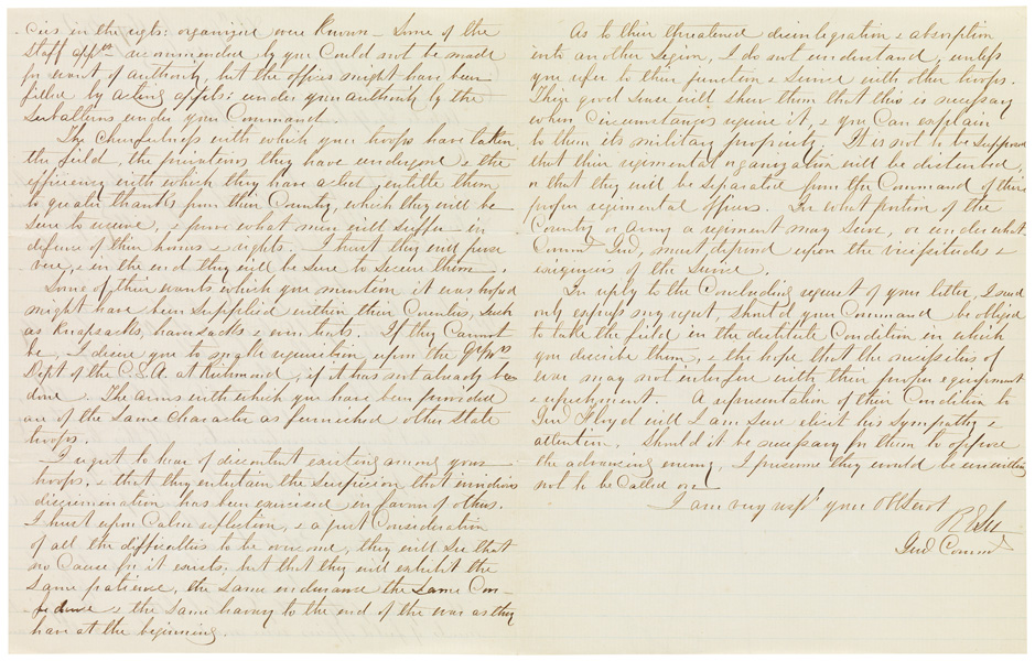 autograph letter signed by robert e. lee