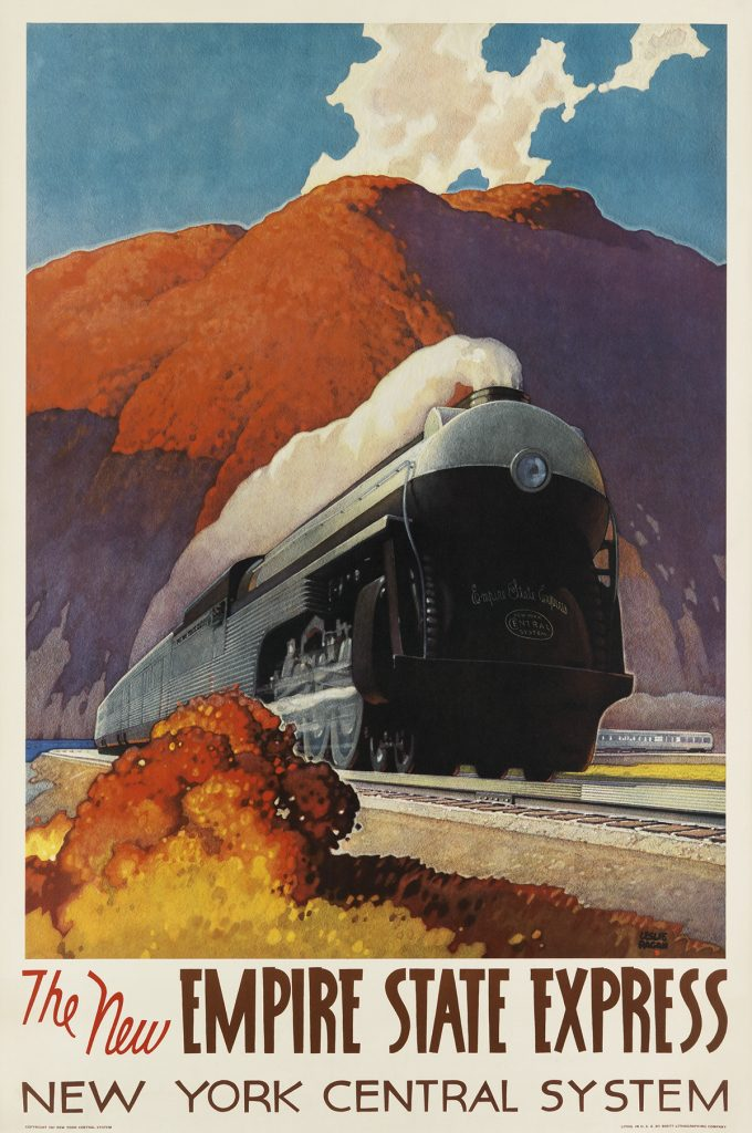 new york central railroad poster