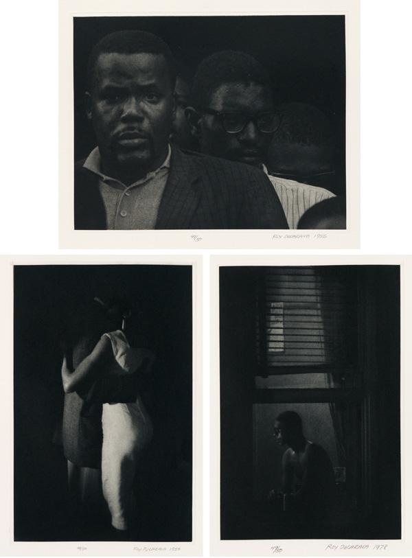 three photographs by Roy DeCarava.