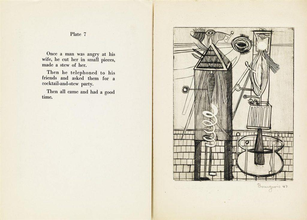 Louise Bourgeois, Portfolio, Plate 7 Spread
