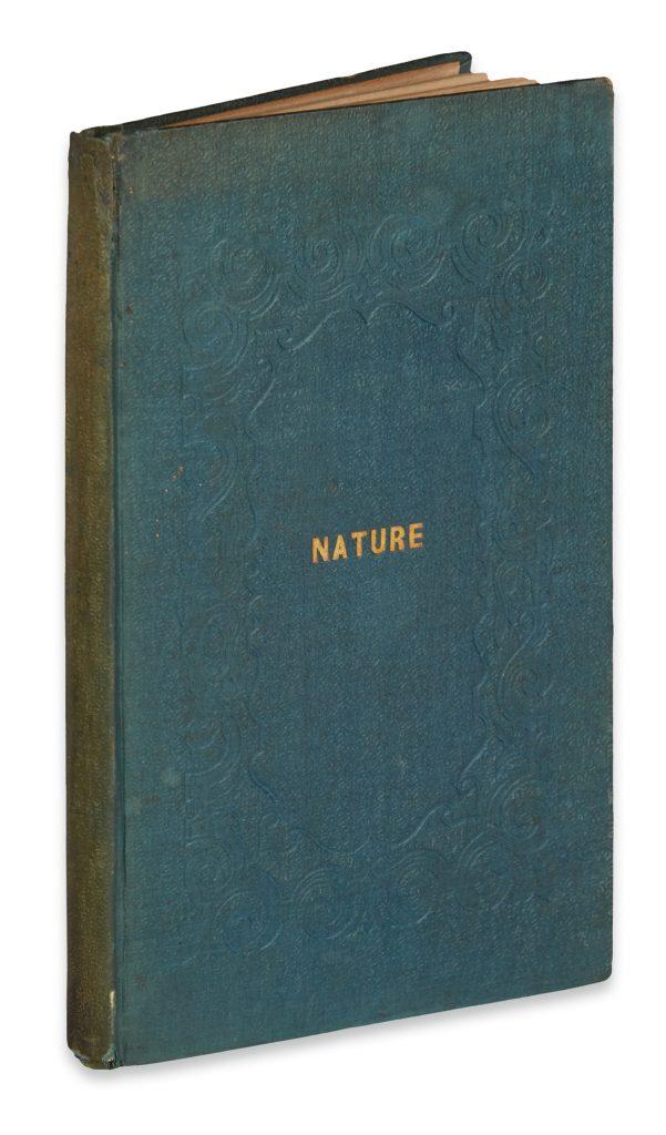 Lot 107, Ralph Waldo Emerson, Nature, Book
