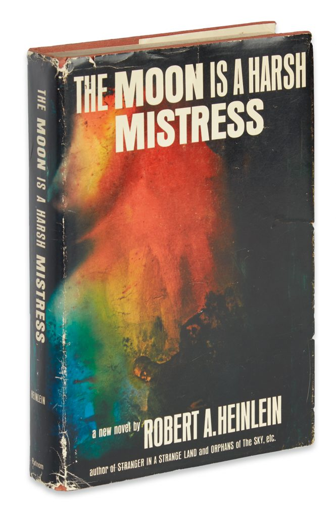 Lot 138 cover of The Moon is a Harsh Mistress, 1966.