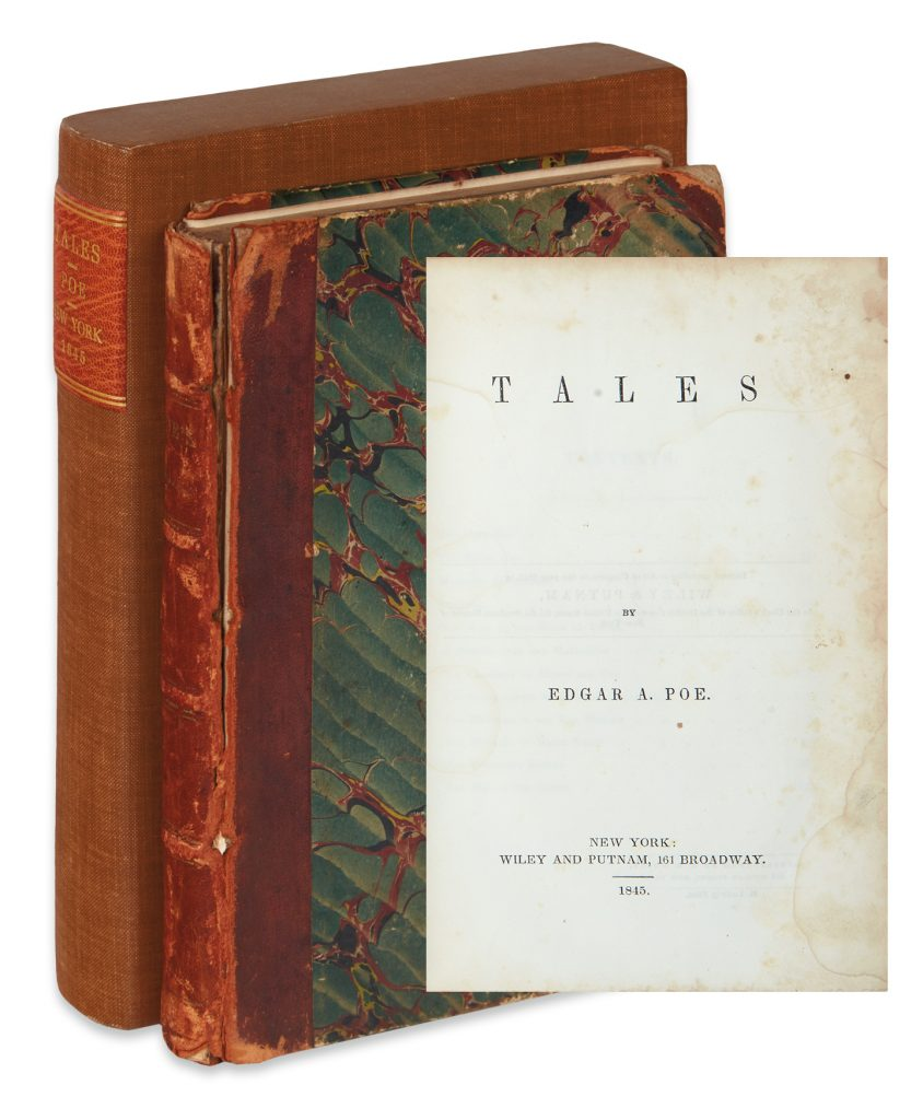 Lot 231, cover with sleeve, and title page, Edgar Allan Poe's Tales.