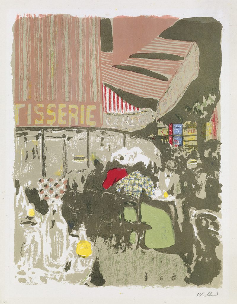 Lot 237, La Pâtisserie, color lithograph by Édouard Vuillard.