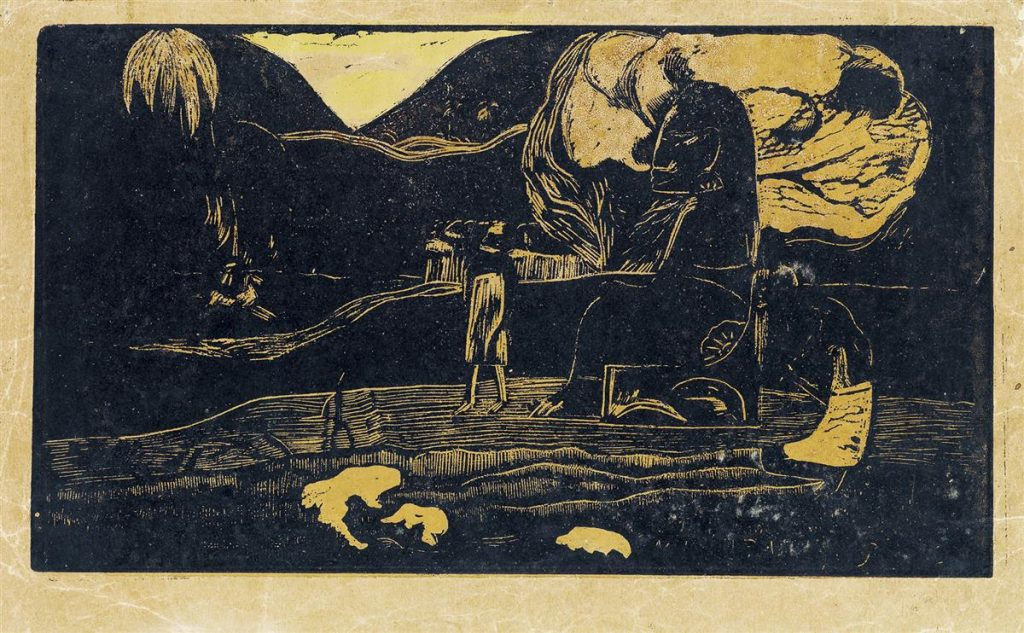 Lot 246, Maruru, color woodcut by Paul Gauguin.