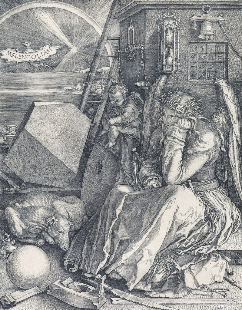Lot 25, Melencolia I, engraving by Albrect Dürer.