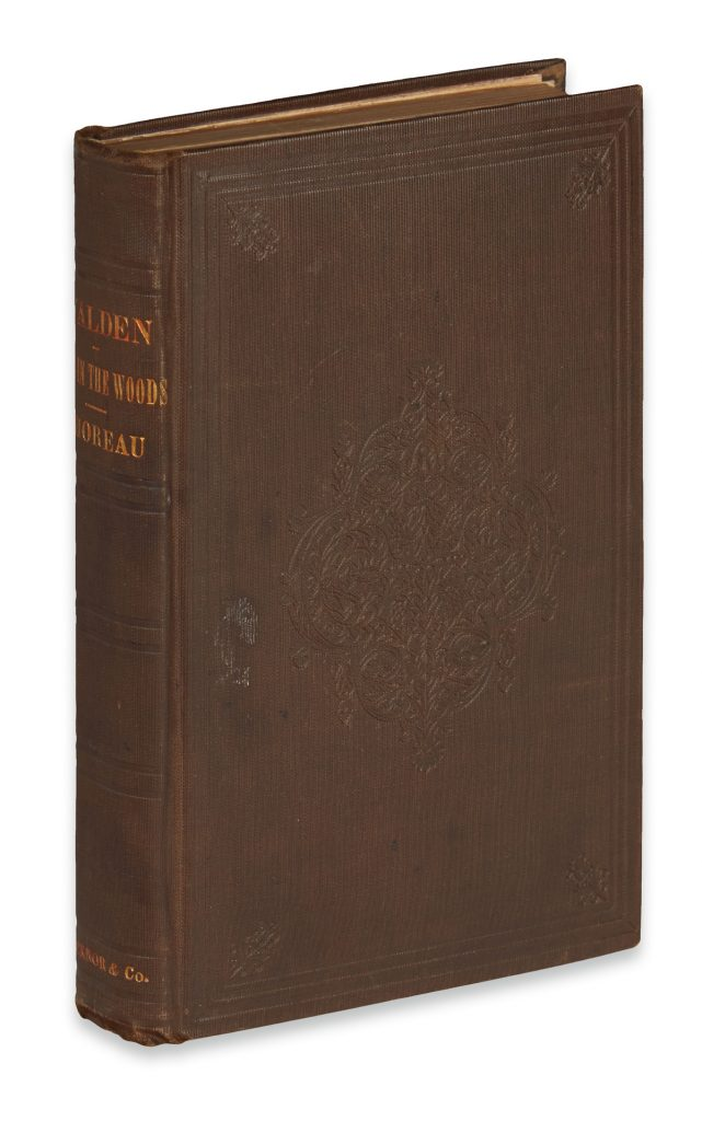 Lot 260, cover of Henry David Thoreau's book, Walden.