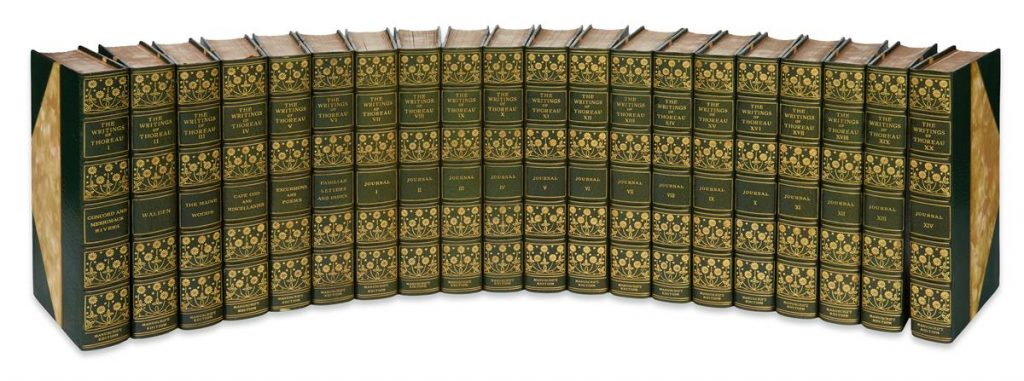 Lot 261, all 20 volumes of Henry David Thoreau's The Writings.