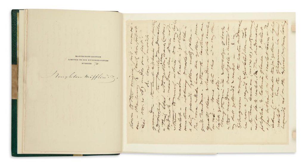 Lot 261, Henry David Thoreau, The Writings, Manuscript Book