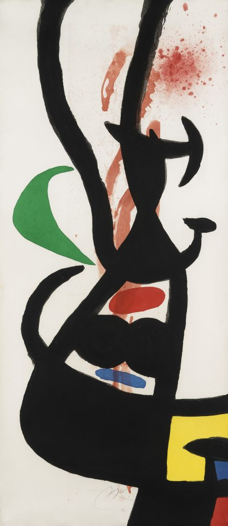 Lot 396, Le Chef des Équipages, color etching and aquatint by Joan Miró.