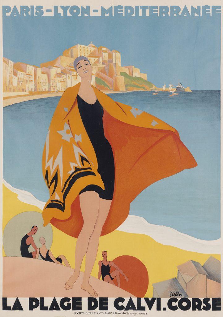 Lot 71, Roger Broders poster for La Plage de Calvi. Corse