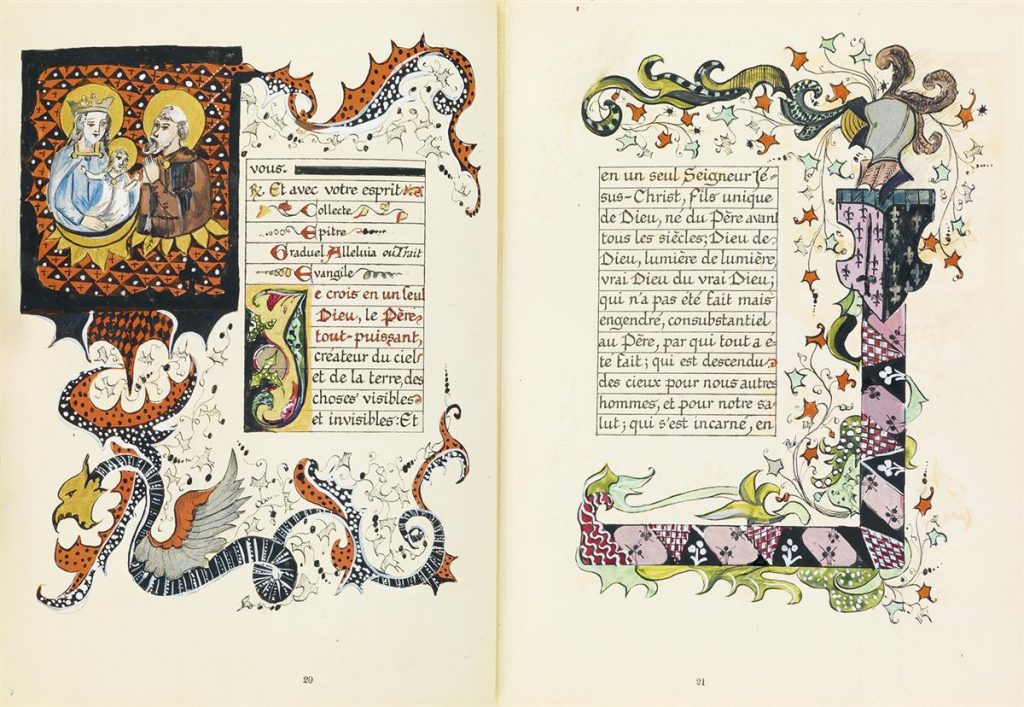 spread from an illuminated manuscript