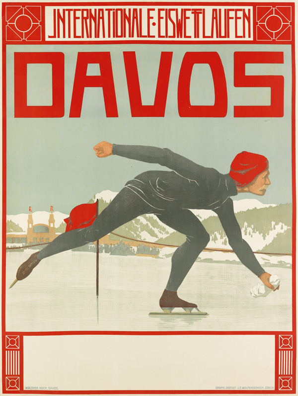 Davos - man speed skating