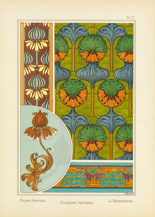 Image of a plate from La Plante et ses applications Ornementales, by Eugène Grasset.